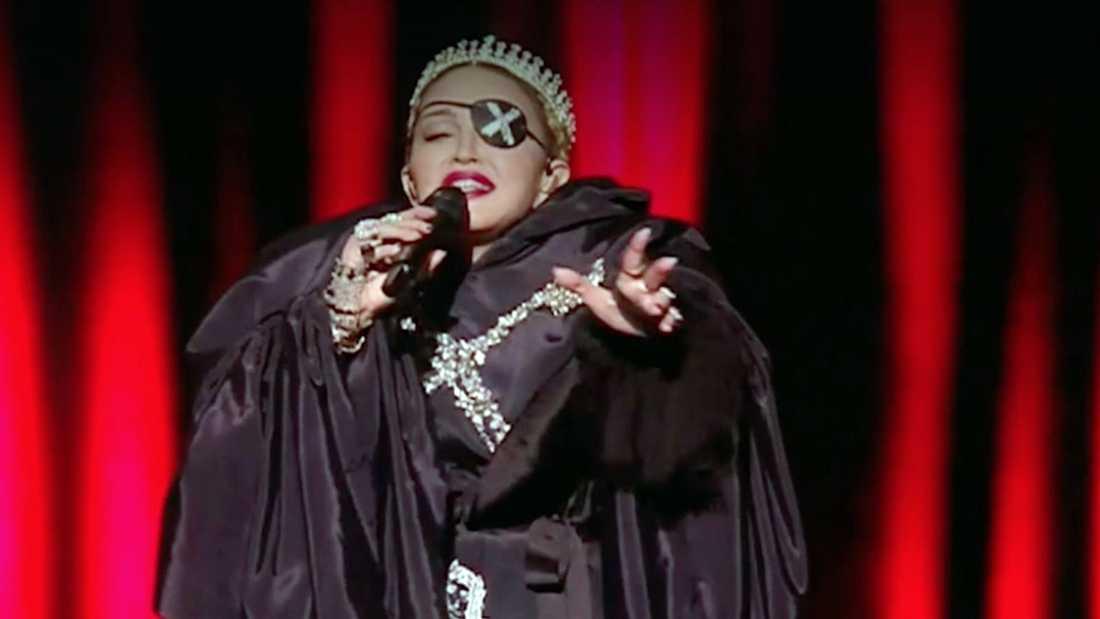 Madonna under kritiserade Eurovision-framträdandet i Israel 2019.