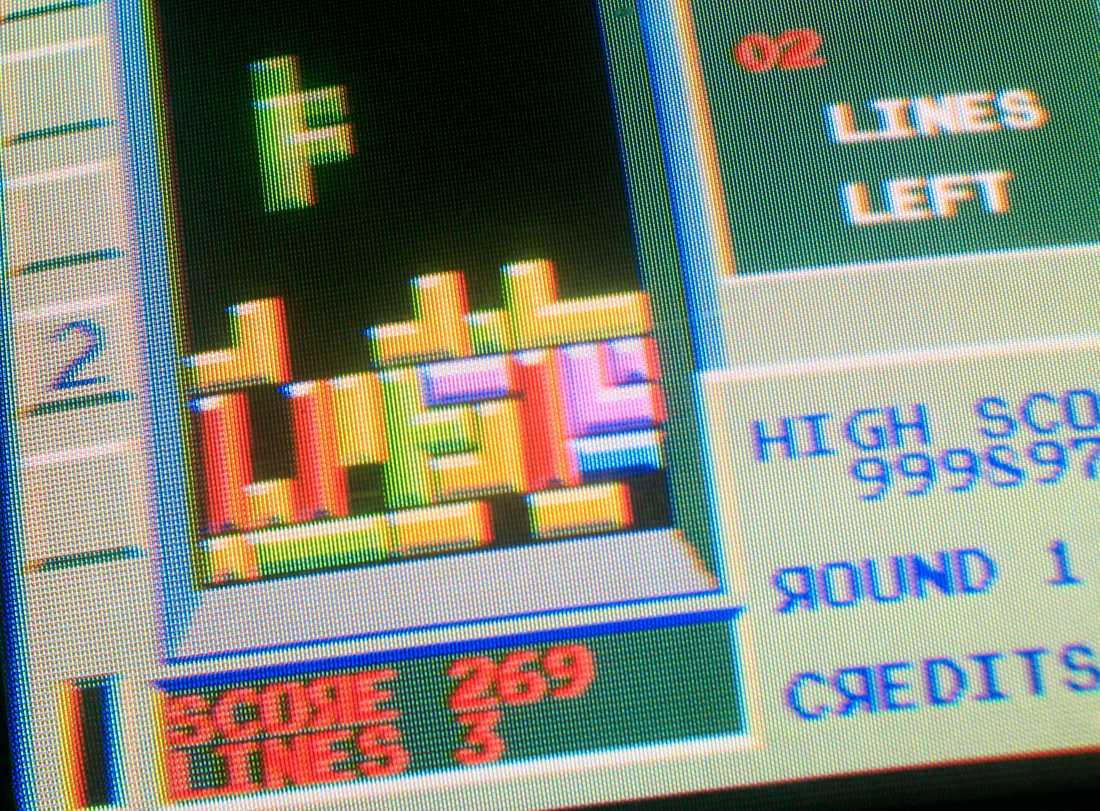 Klassiska tv-spelet Tetris.