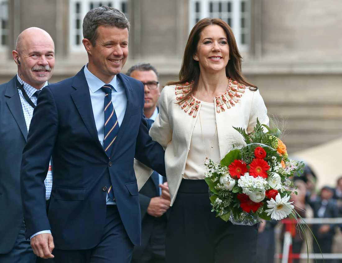 Kronprins Frederik av Danmark tillsammans med hustrun kronprinsessan Mary.