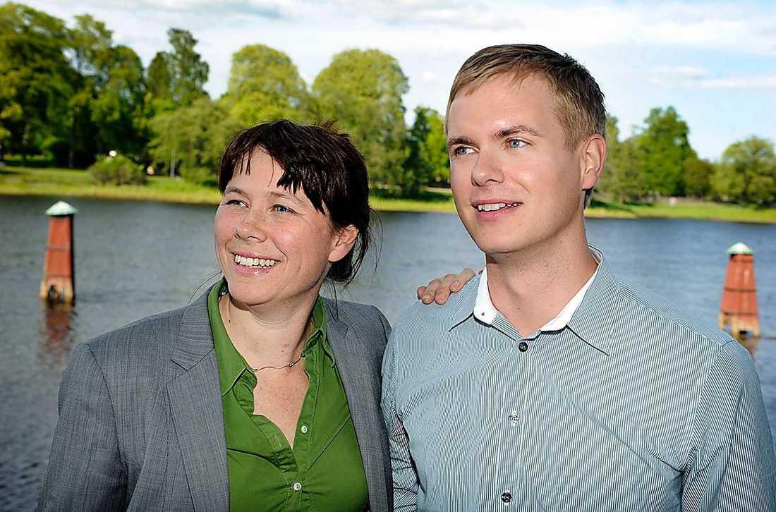 Åsa Romson och Gustav Fridolin.