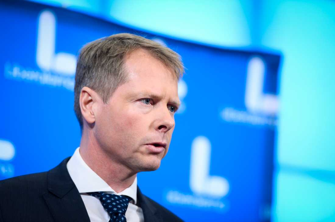 Christer Nylander, Liberalernas gruppledare i riksdaen.
