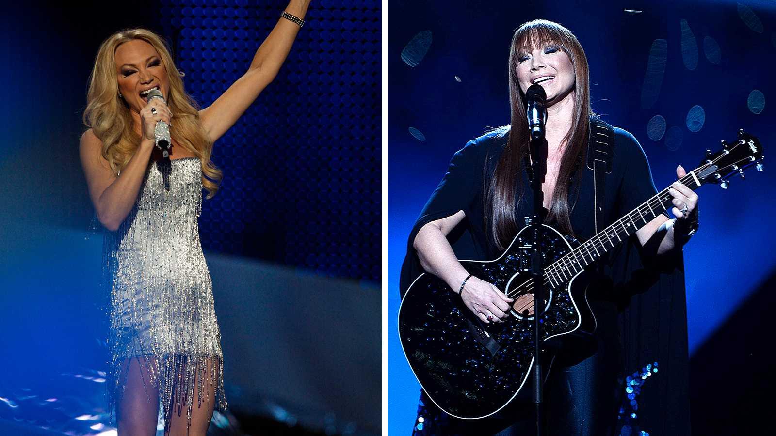 Eurovision 2008 (till vänster) och Melodifestivalen 2017 är bara två av de tillfällen då Charlotte Perrelli blivit utseendehånad, fast av helt motsatta anledningar.