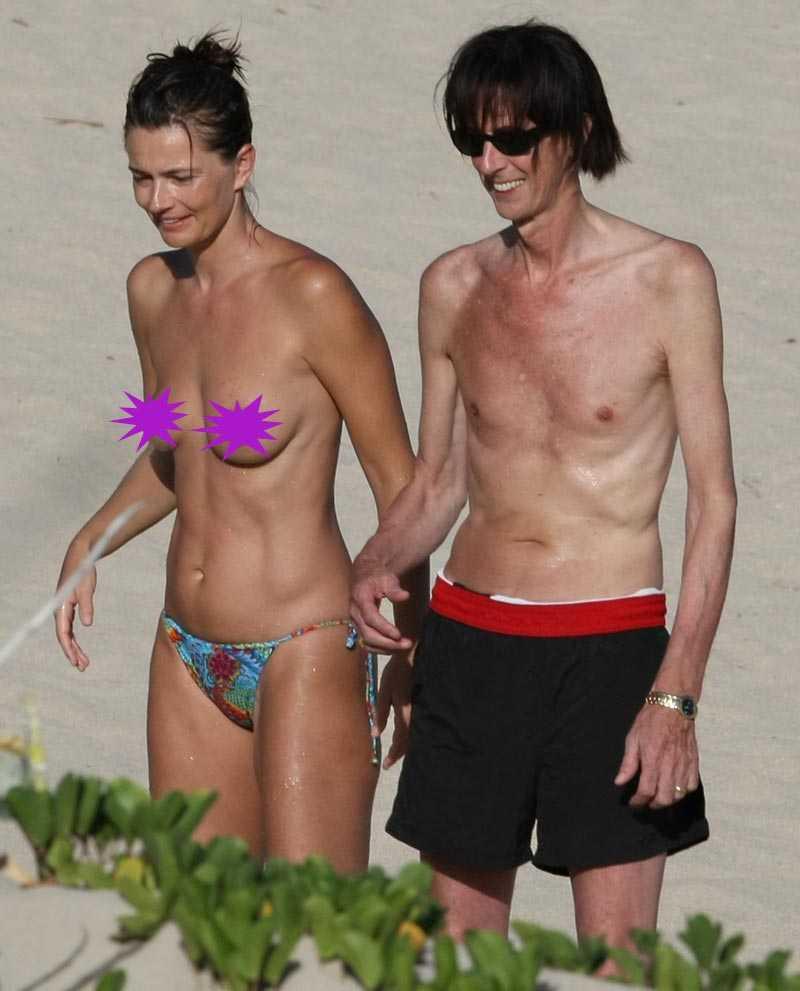 Paulina Porizkova med sin man sedan 20 år Ric Ocasek.