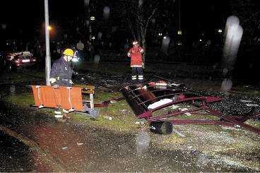 Olycksplatsen i Skene.