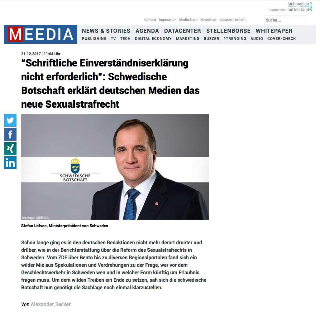 Skärmdump från Meedia.