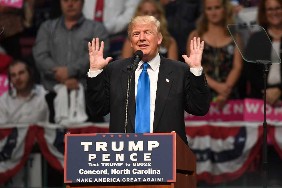 Donald Trumps valmöte i Concord  north Carolina.