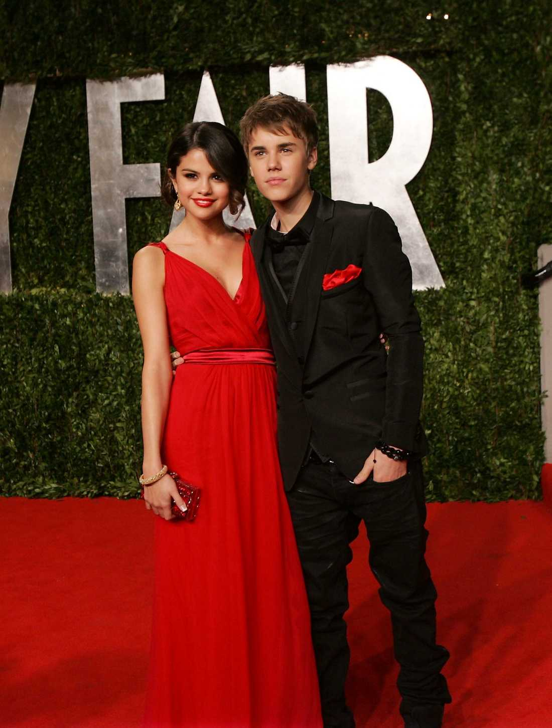 Justin och flickvännen Selena.