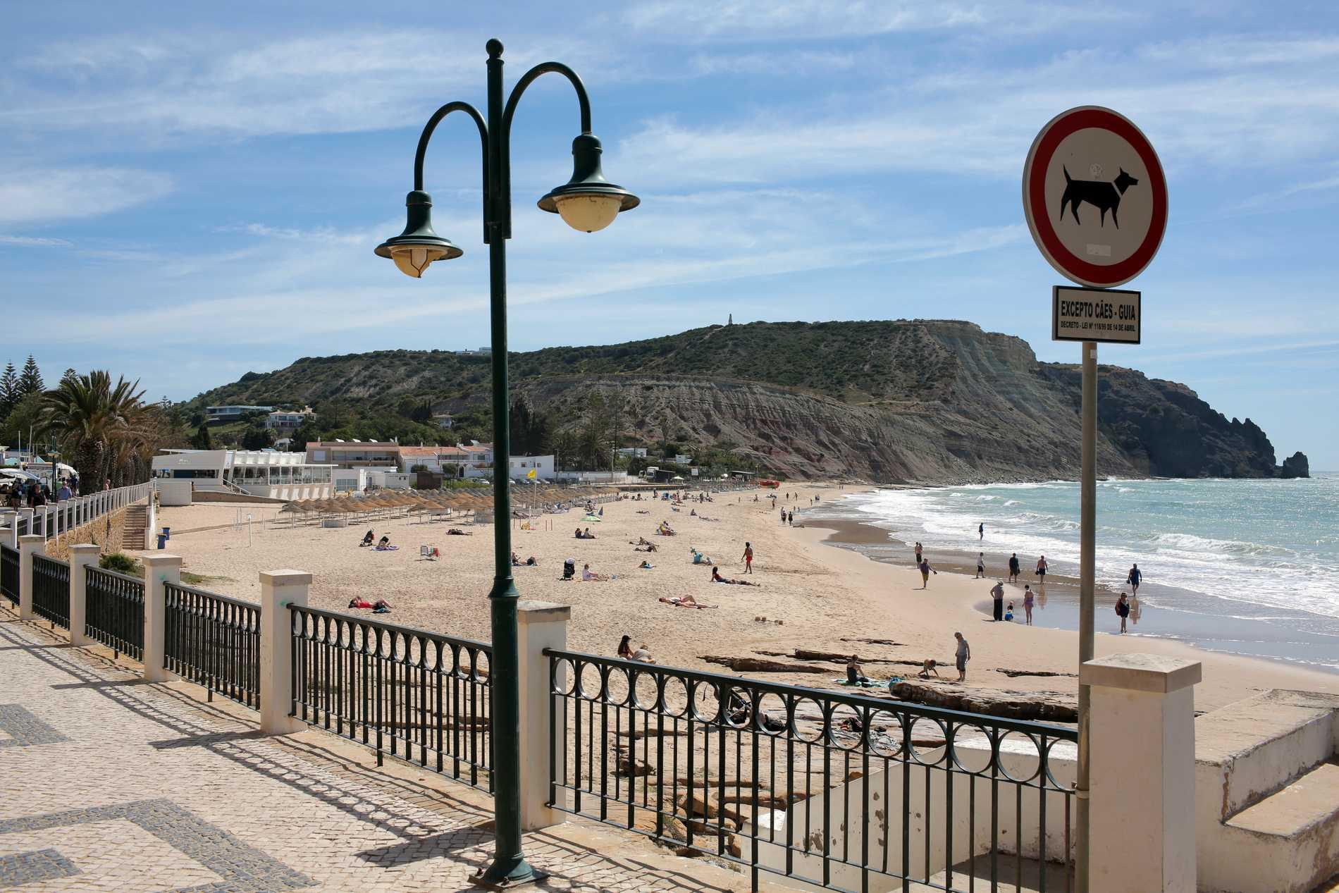 Praia da Luz i södra Portugal.