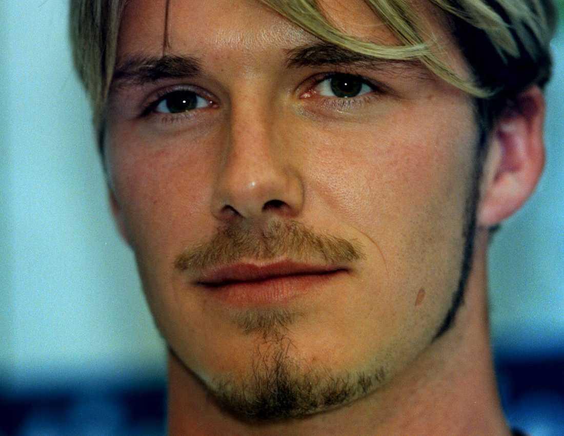 Omslagspojken David Beckham. Här i juni 1999.