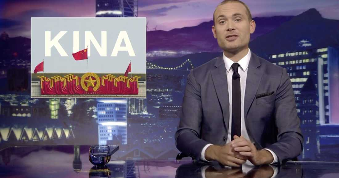 """Jesper Rönndal är programledare för SVT:s """"Svenska nyheter""""."""