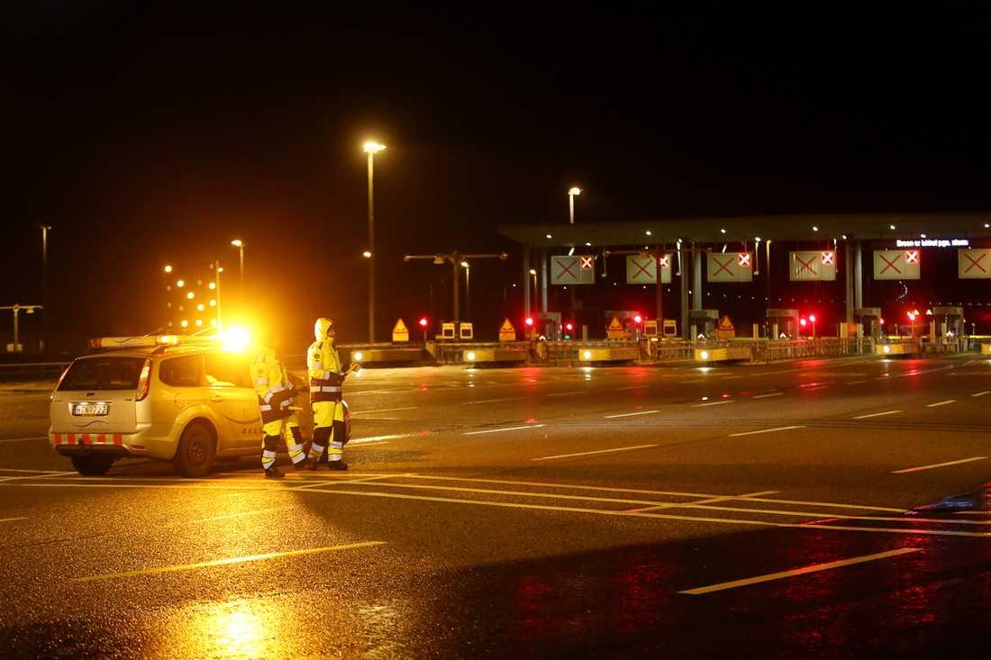 Stormen Gorm nådde orkanstyrka när den drog in över Sverige 29 november 2015. Öresundsbron stängdes av i båda riktningarna.