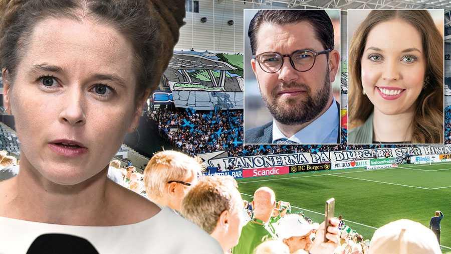 Kan vi förvänta oss sprakande arenor den 1 juni? Nej. Enbart 500 åskådare ska släppas in – oavsett storlek på arenan. Regeringen och Amanda Lind vågar inte gå emot FHM vars restriktioner saknar både logik och flexibilitet, skriver Jimmie Åkesson och Angelika Bengtsson.