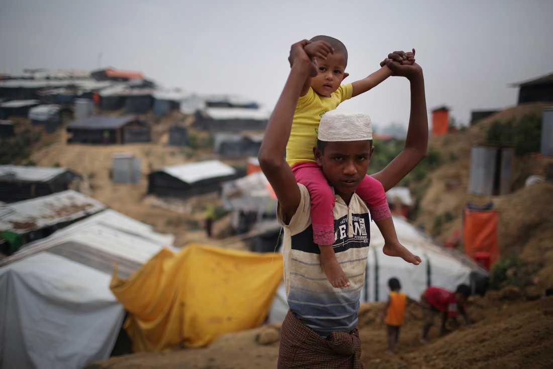 Flyktinglägret Jamtoli i Bangladesh i november.