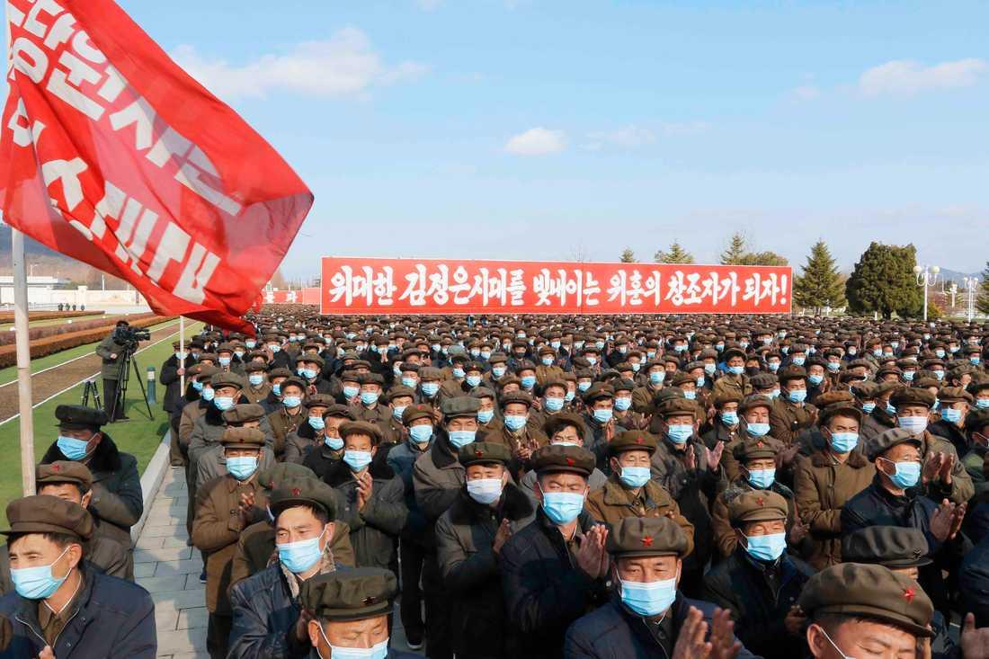 Militärparad i Pyongyang i Nordkorea den 20 november. Arkivbild.