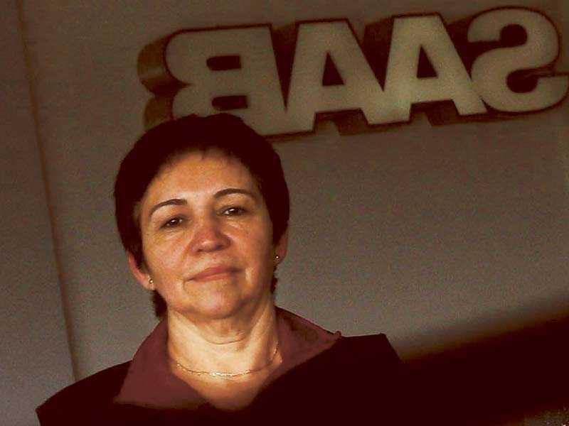 Irma Dinamarca kom till Sverige från Chile 1974. Sedan dess har hon arbetat på Saab:s fabrik i Trollhättan.