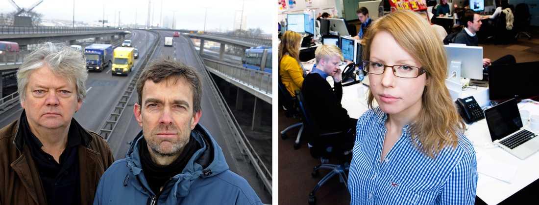Aftonbladets fotograf Urban Andersson och reporter Fredrik Rundkvist rapporterar från vägarna. Josefin Karlsson rapporterar från Aftonbladets redaktion.