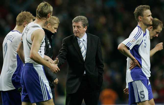 Hodgson fick sedan en ny chans som förbundskapten. Här i Finland 2007.