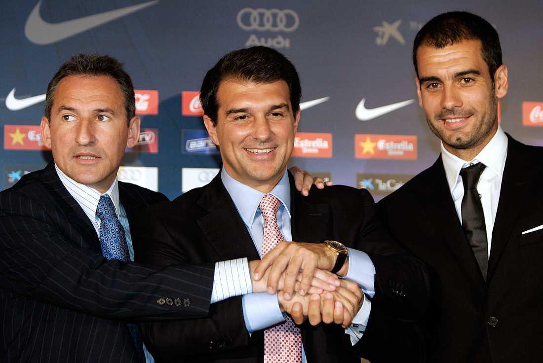 17 juni 2008 Pep Guardiola presenteras som Barcelonas nye tränare efter Frank Rijkaard. Foto: AP