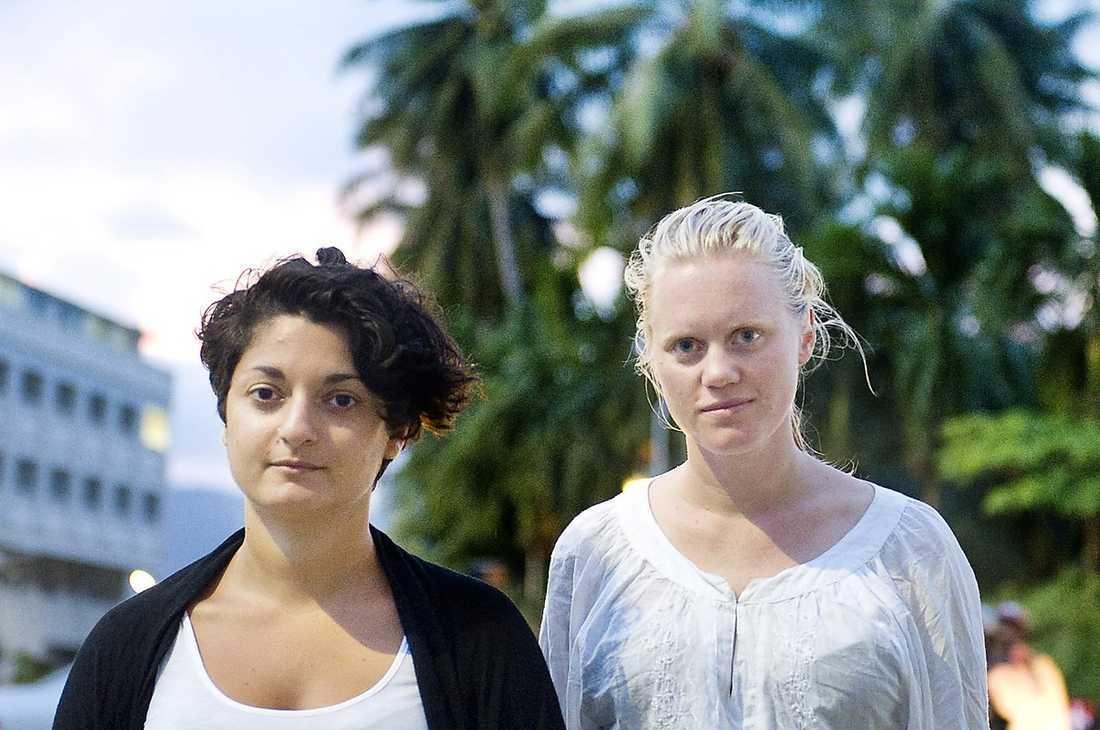 Aftonbladets Nivette Dawod och Lina Boström Einarsson på plats i Thailand.
