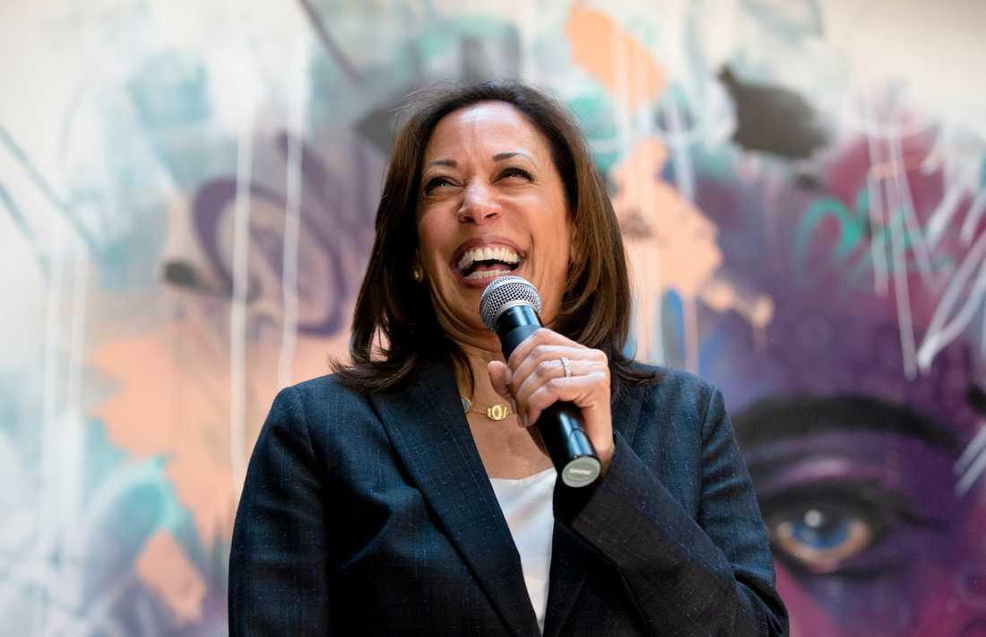 Den demokratiska presidentaspiranten och Kaliforniensenatorn Kamala Harris.