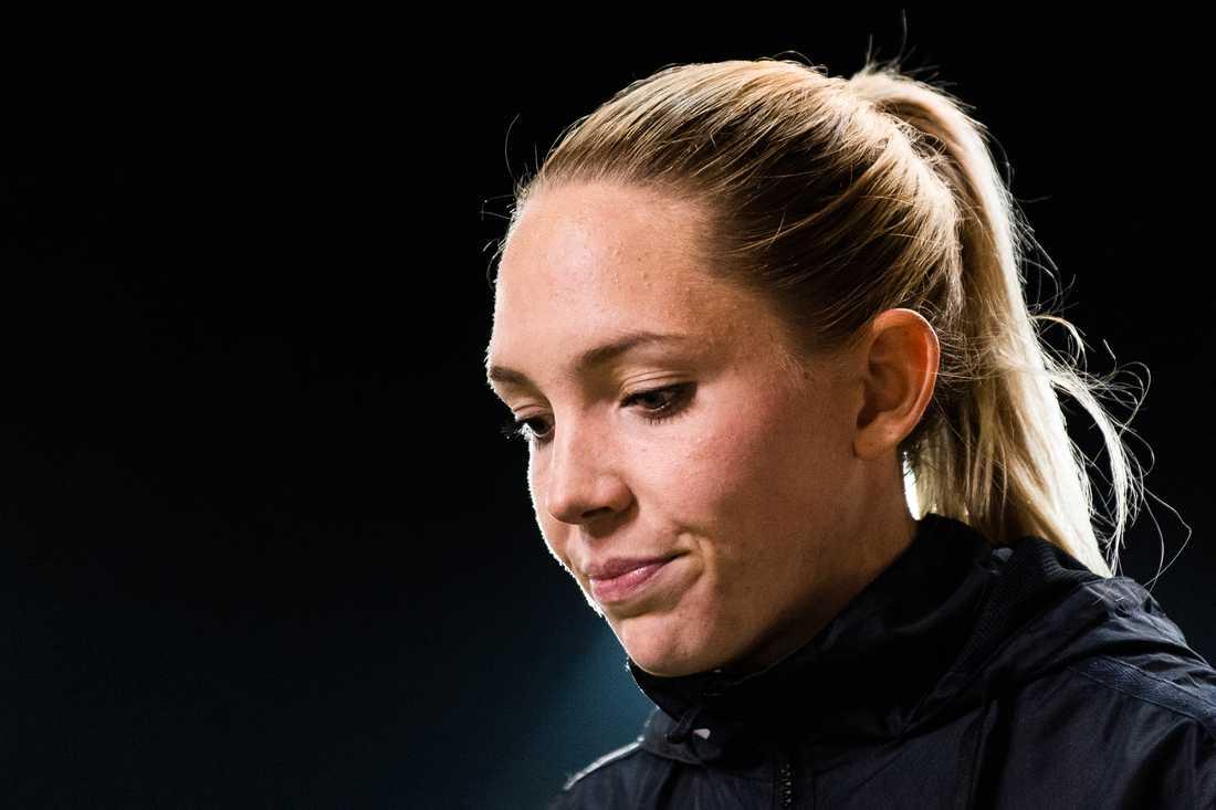 Elin Rubensson efter en CL-match ifjol.