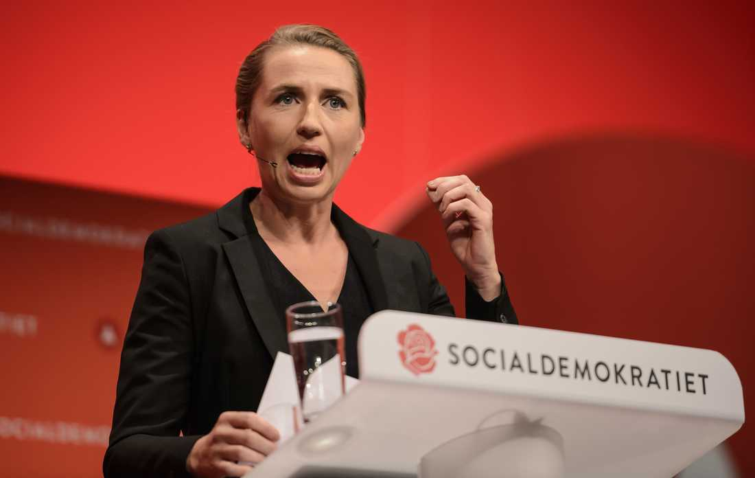 Danska socialdemokraternas partiledare Mette Frederiksen.