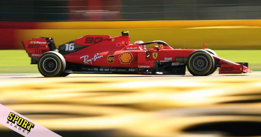 Charles Leclerc har pole position i Belgiens GP i Formel 1