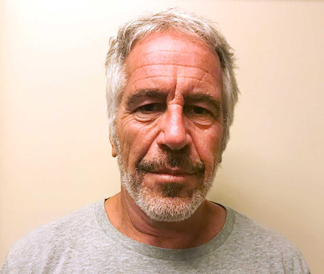 Kriminalvårdens foto på Jeffrey Epstein i samband med ett gripande 2017. Arkivbild
