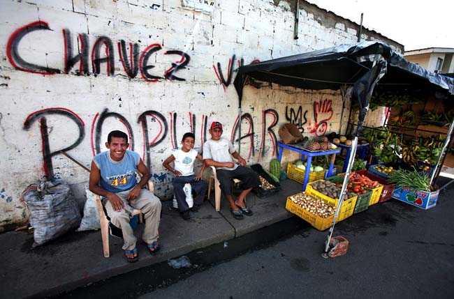 Hugo Chavez hemstad Sabaneta i södra Venezuela.