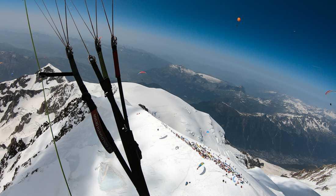 Mont Blanc från luften.