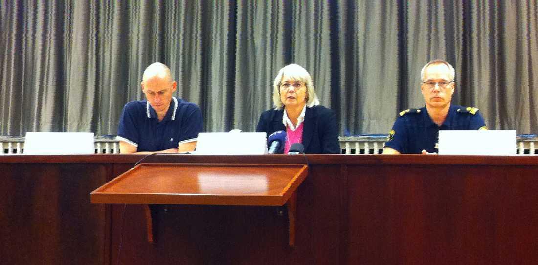 Polisens presskonferens i Ljungby.