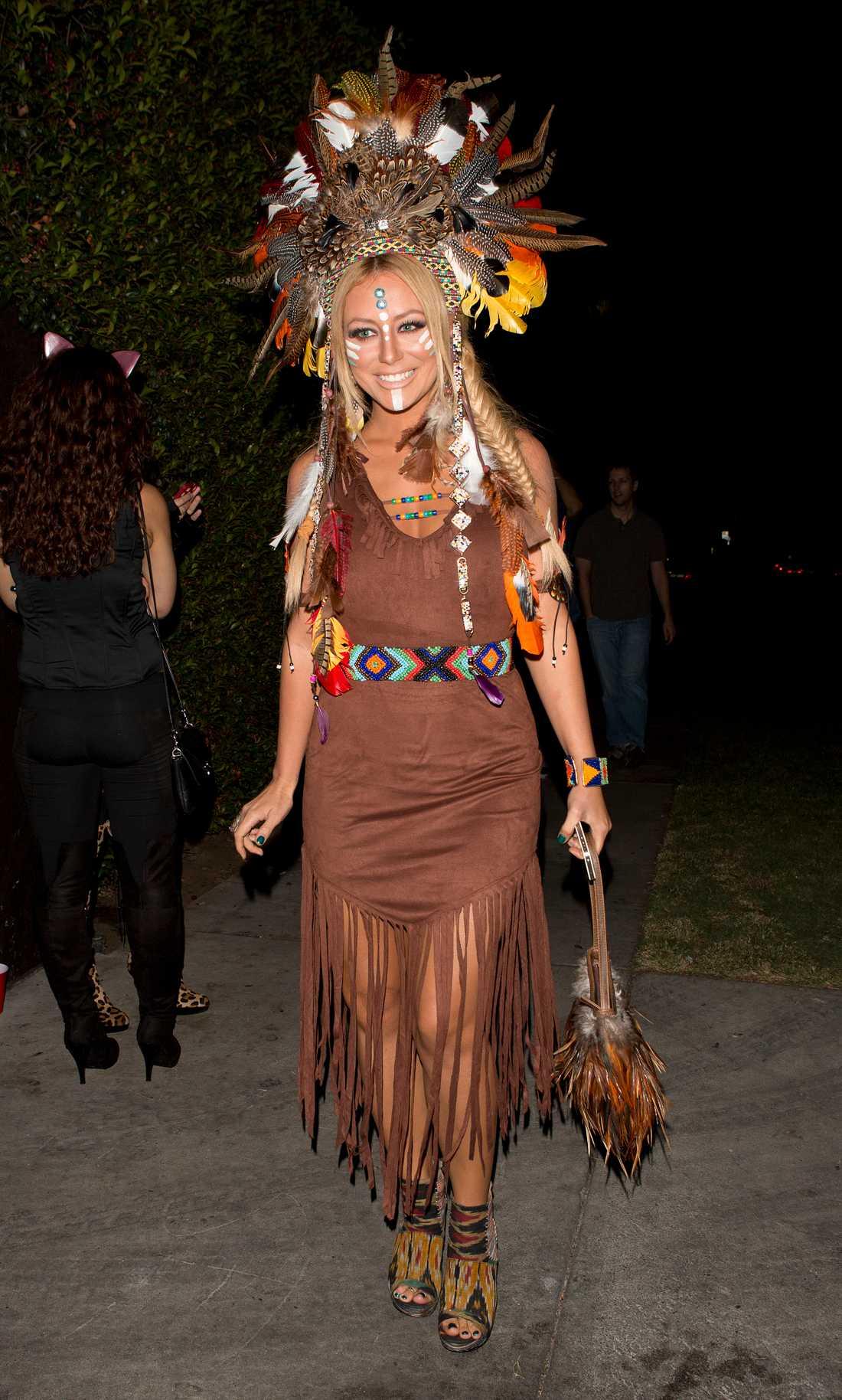 Het indian-look Aubrey O'Day!