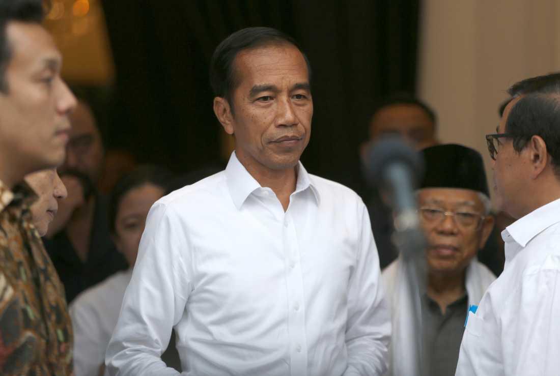 Indonesiens sittande president Joko Widodo. Arkivbild.
