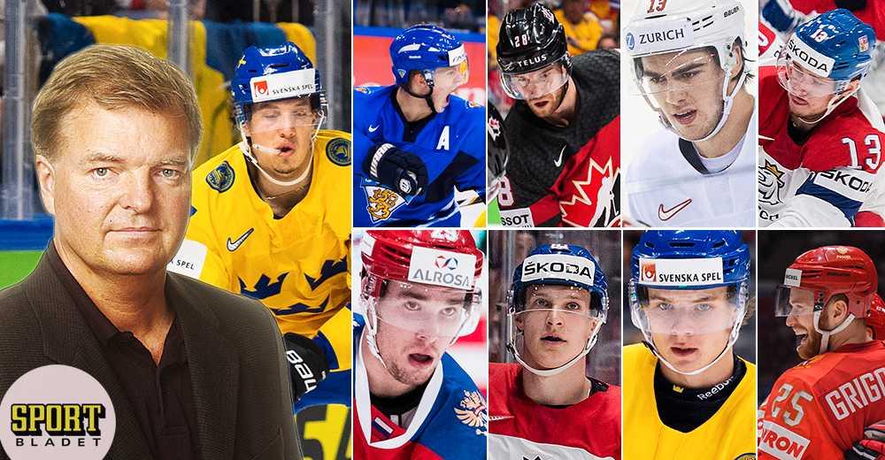 Wennerholms rankning: Hockey-VM:s 25 bästa spelare