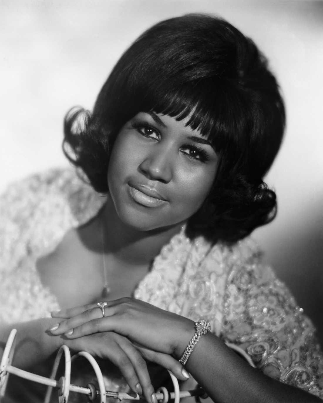 En ungdomsbild på Aretha Franklin.