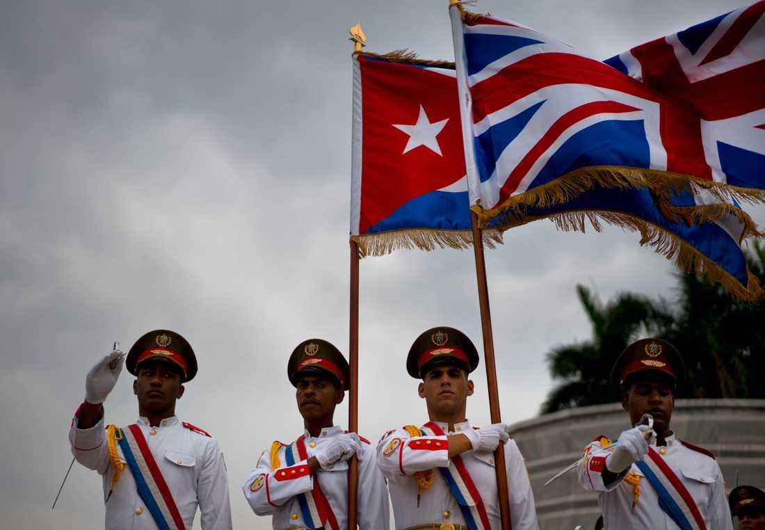 Kubanska soldater vid ceremonin i Havanna.