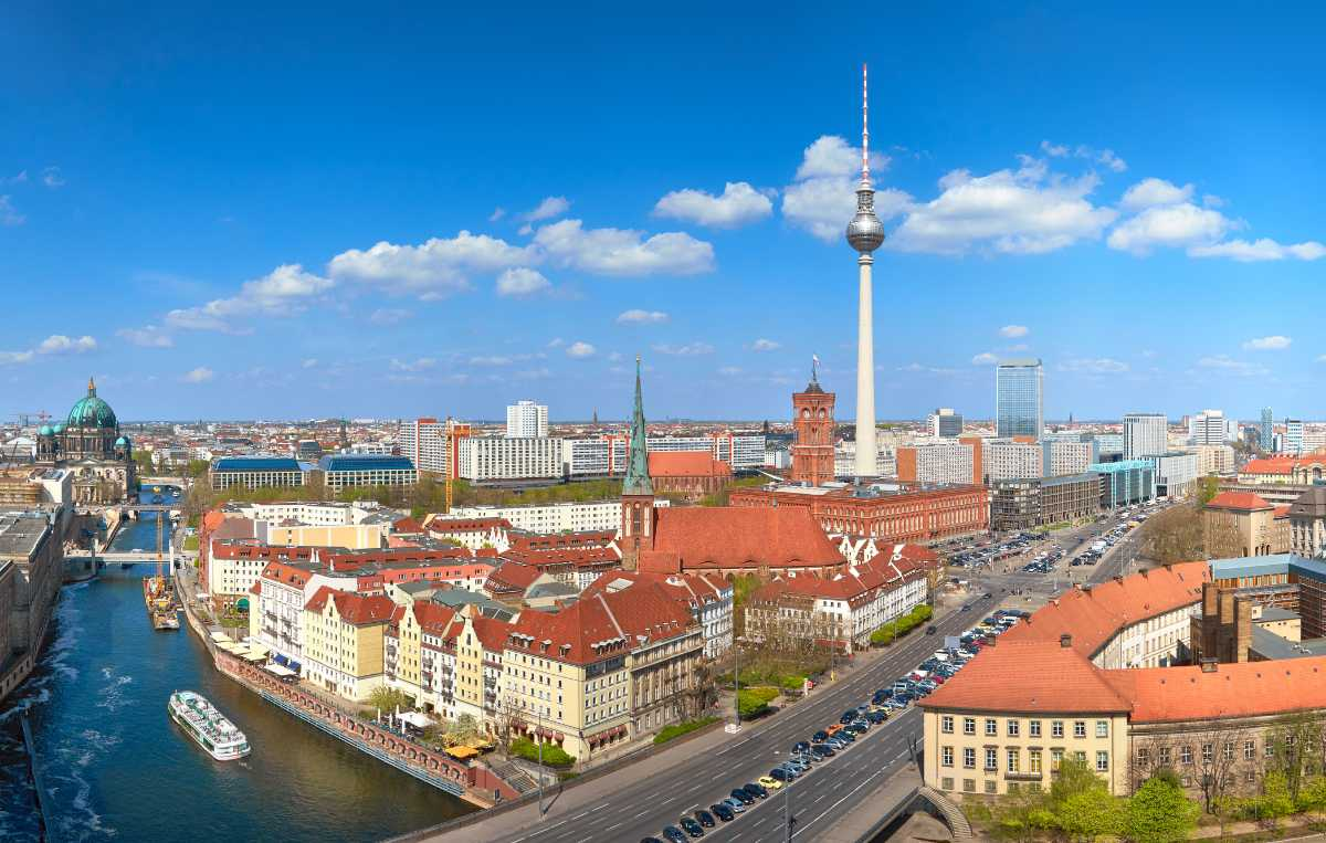 Strosa runt i Berlin.