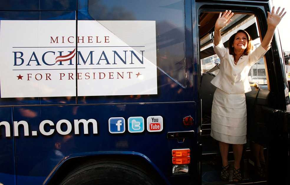 Tea party-rörelsens drottning, kongressledamoten Michelle Bachmann.