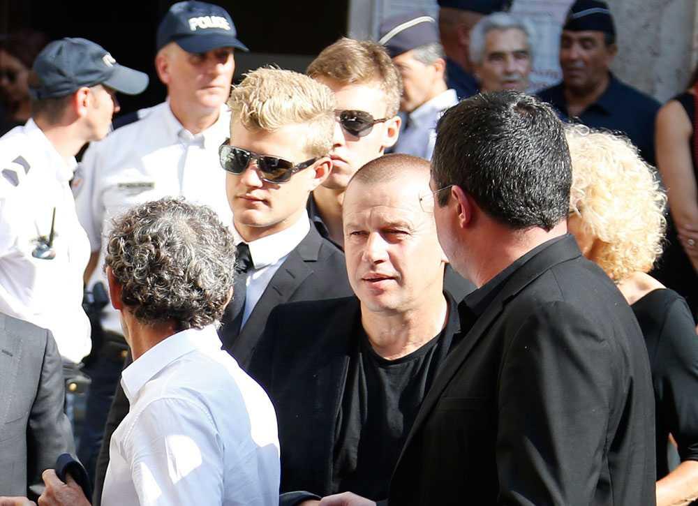 Marcus Ericsson på begravningen