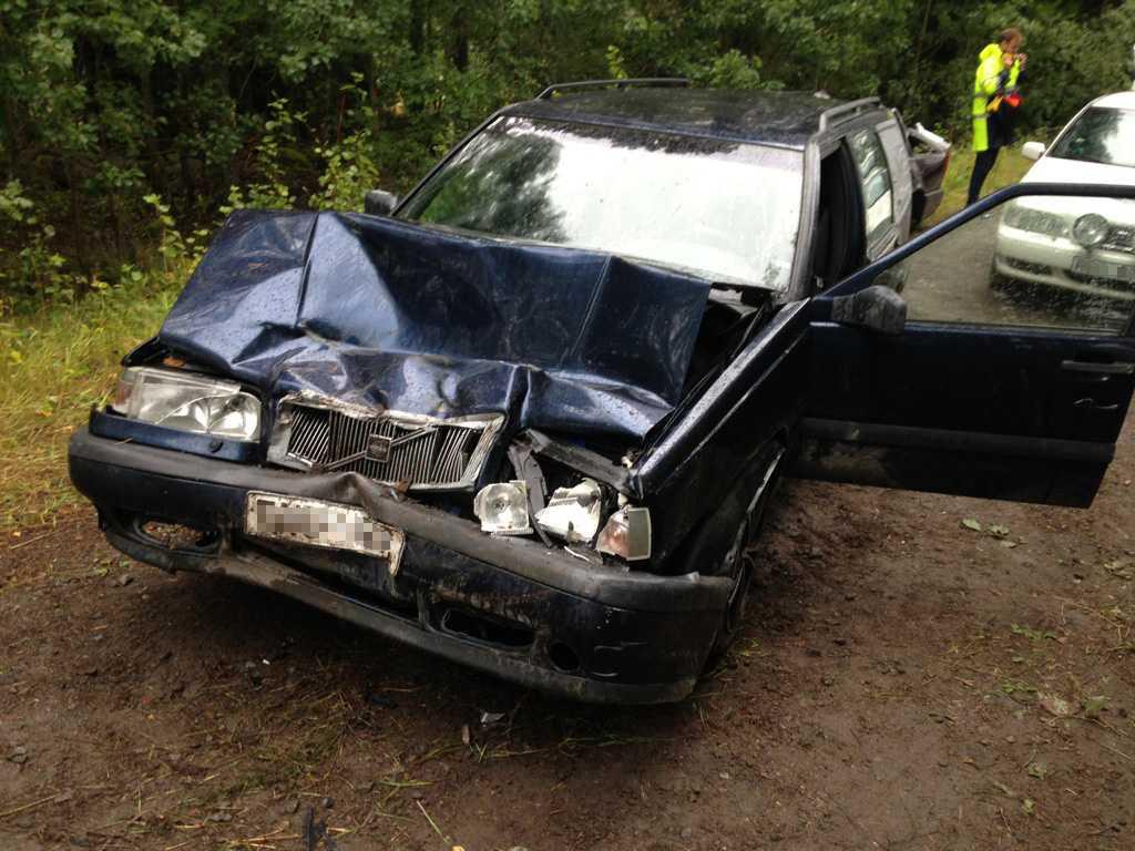 Bilen efter olyckan.