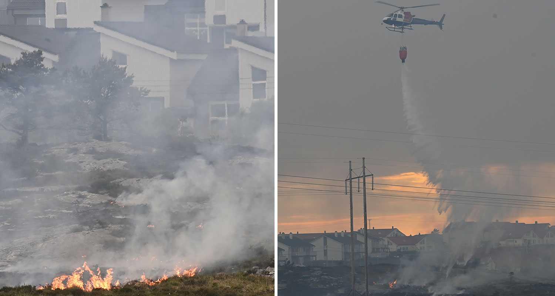Storbrand rasade på norska ön – hundratals evakuerade