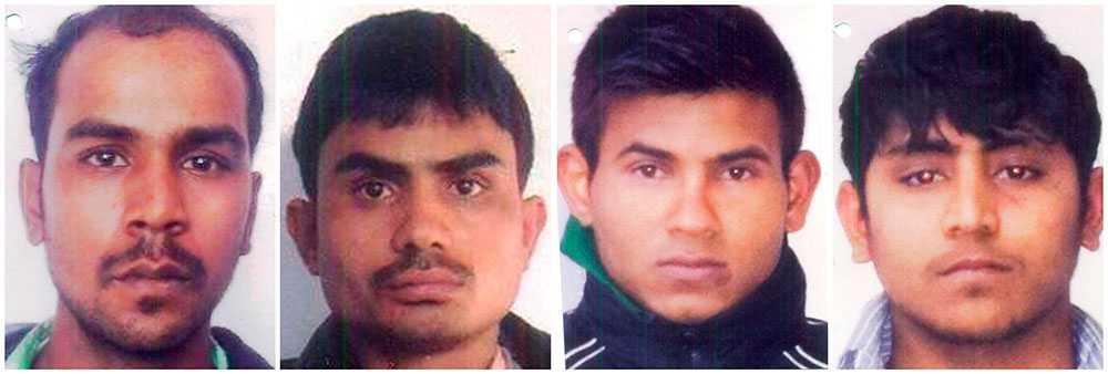 De indiska männen Mukesh Singh, Akshay Thakur, Vinay Sharma och Pawan Gupta har dömts för den omskrivna våldtäktet på en buss i New Delhi där en kvinna dog till följd av övergreppet.
