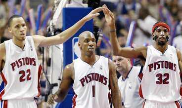 finalklar Dettroit Pistons slog ut Miami Heat i den sjunde avgörande matchen och får nu möta San Antonio Spurs i finalen.