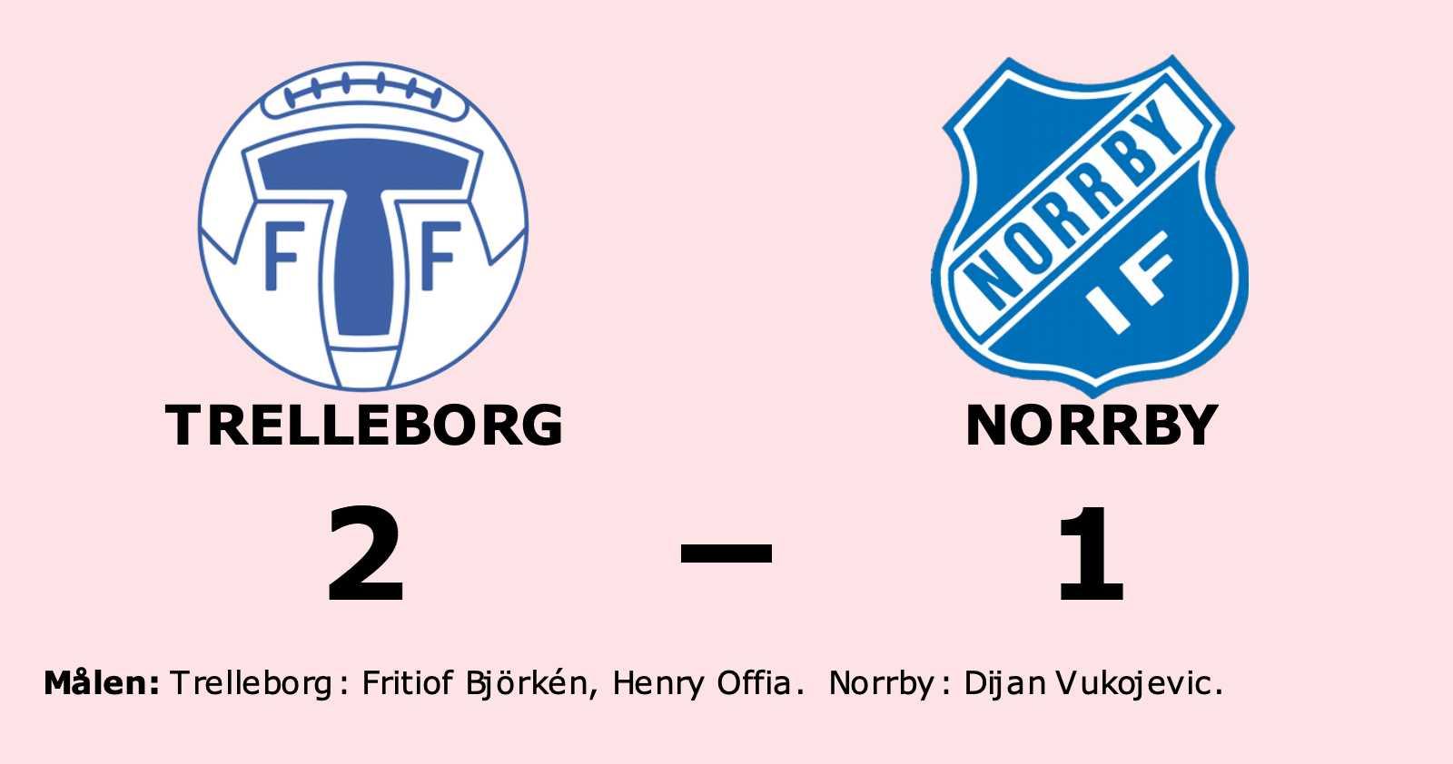 Norrby föll mot Trelleborg trots ledning