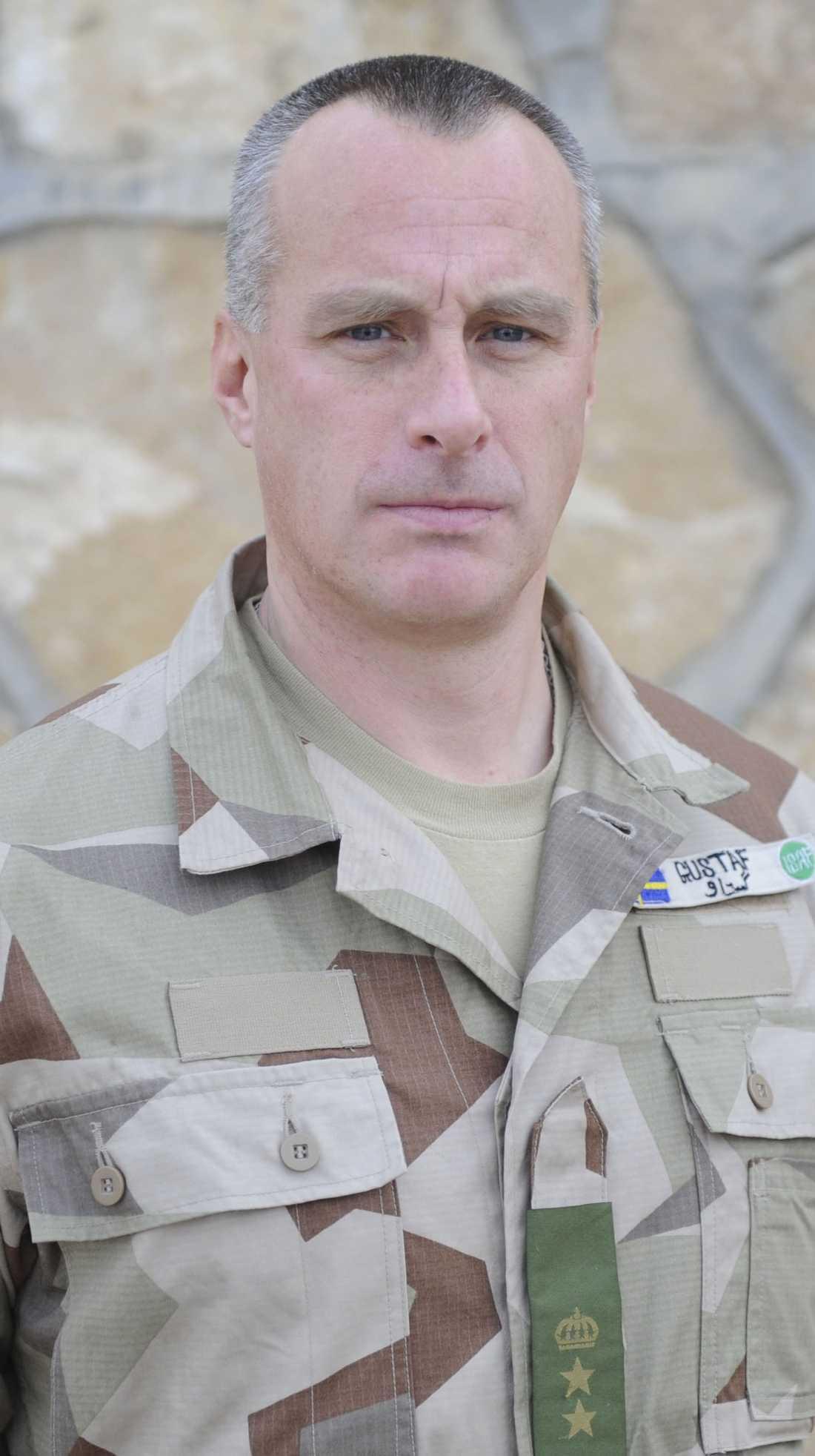 Gustaf Wallerfelt, chef för den svenska styrkan i Afghanistan.