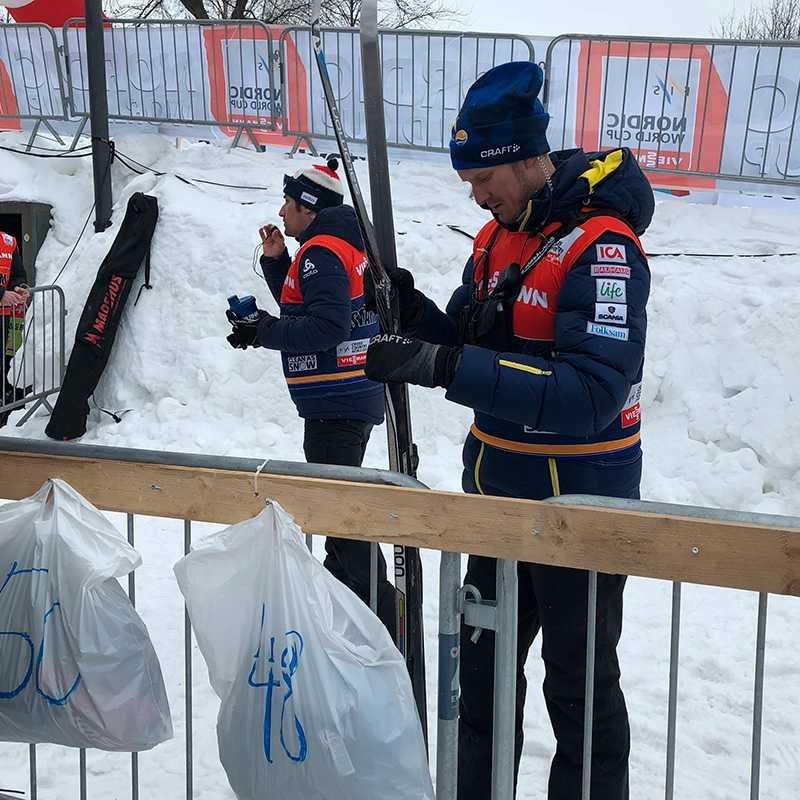 Johan Granath med Westbergs skida.