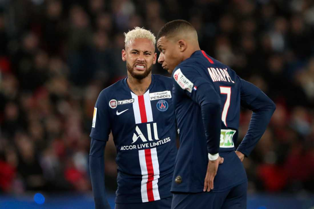Neymar och Mbappé i PSG.