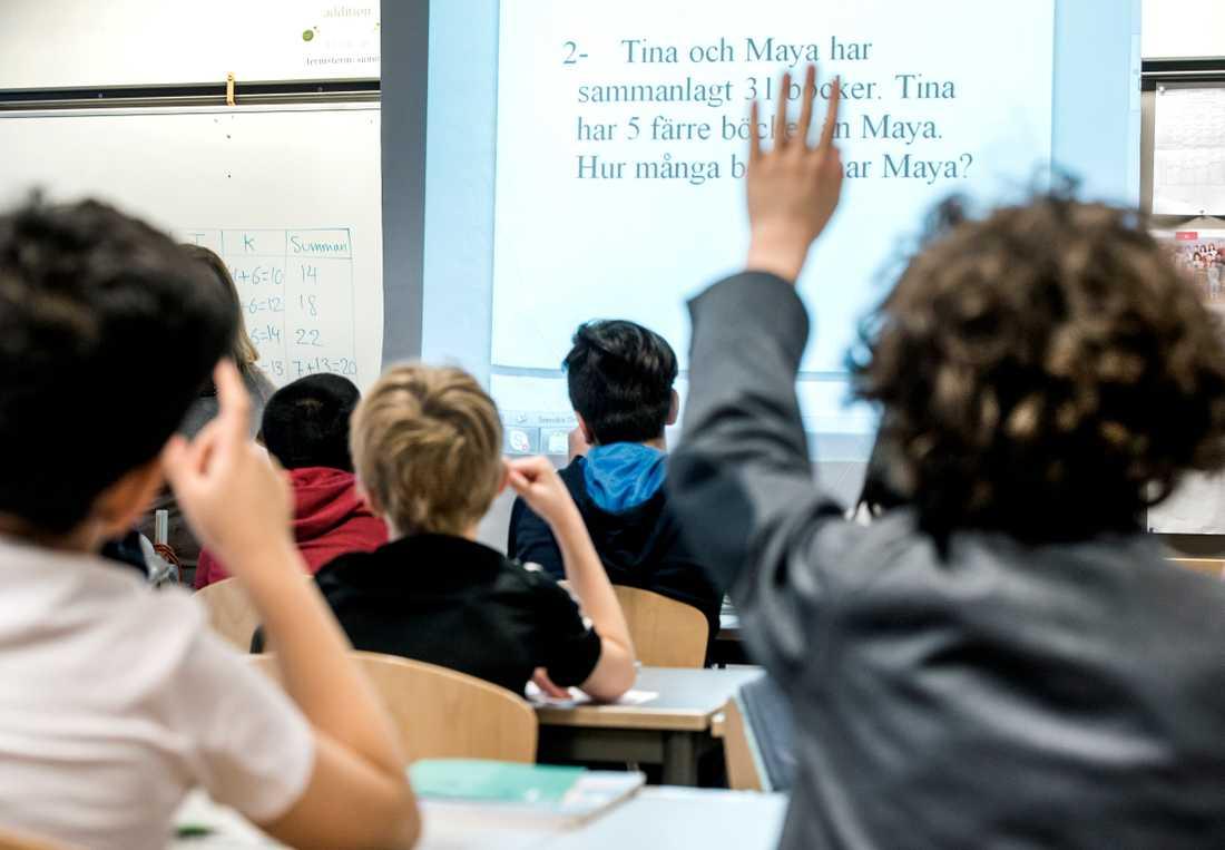 I Malmö finns en åtgärdstrappa för skolorna att följa.