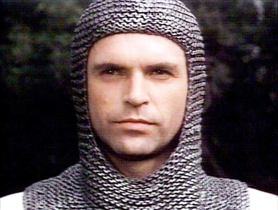 Sam Neill as the knight Brian De Bois-Guilbert.