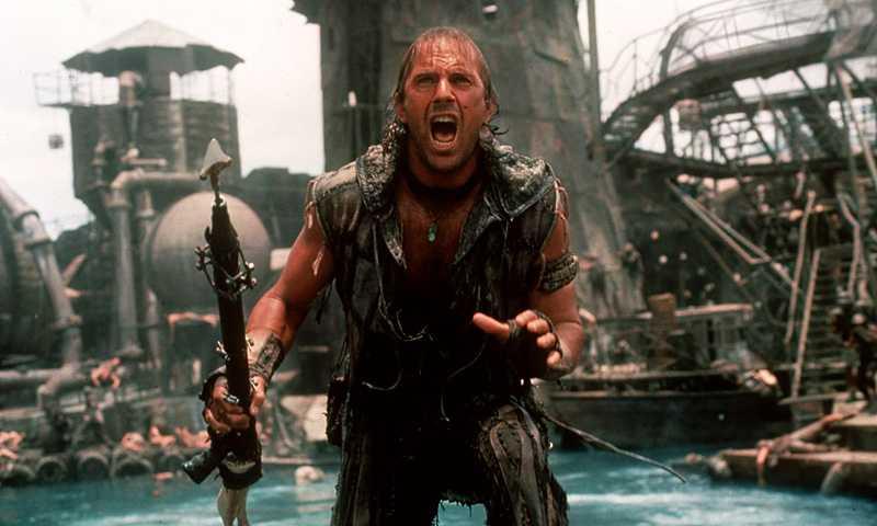 Kevin Costner i filmen Waterworld.